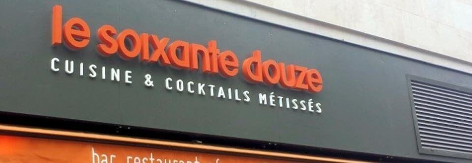 Enseigne restaurant «Le soixante douze» Paris