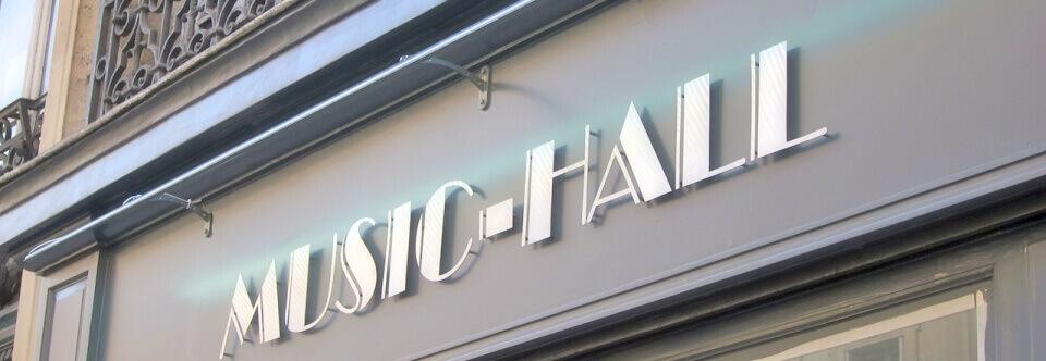 Enseigne de Magasin HiFi MUSIC-HALL