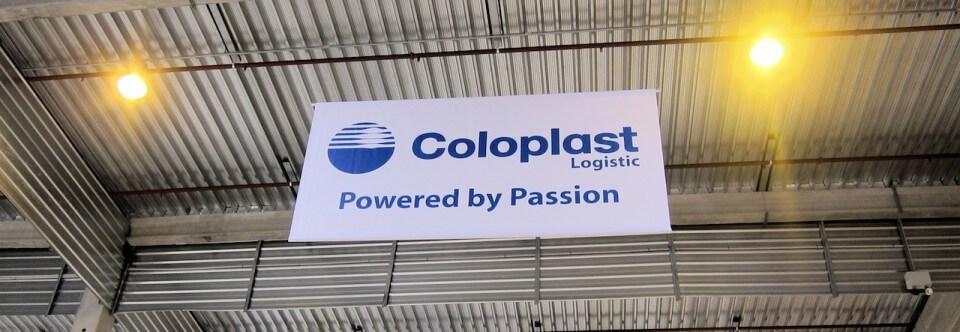 Enseigne et signalétique entrepôt – Coloplast (77)