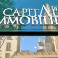 Enseigne agence immobilière Capitale Immobilier Paris 19e