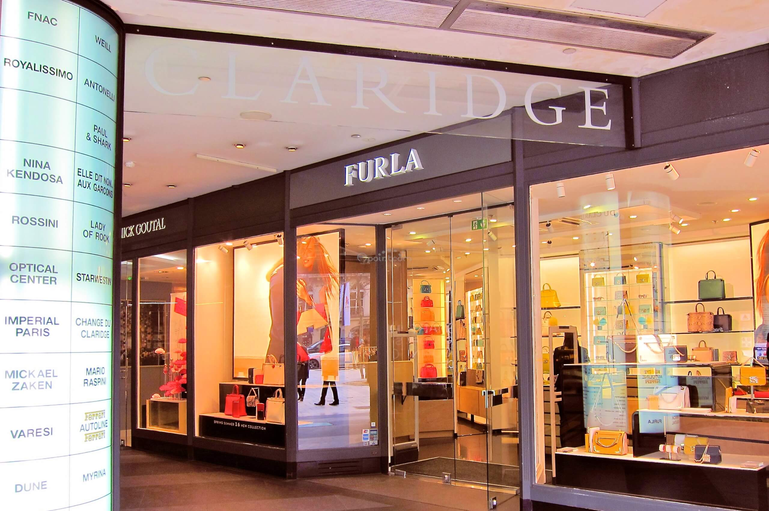 enseigne lumineuse magasin furla champs elysees. Black Bedroom Furniture Sets. Home Design Ideas