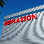 Enseigne sur bardage d'entrepôt Plasson France- Servon (77)
