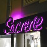 Enseigne inox Boutique Sucrerie à Villiers-Sur-Marne-94350 - Vue de nuit