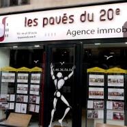Enseigne agence immobilière   «Les pavés du 20 ème»
