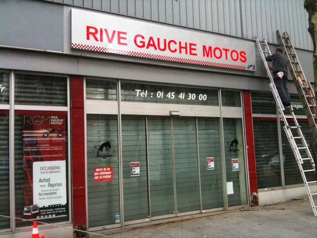 enseigne magasin rive gauche motos