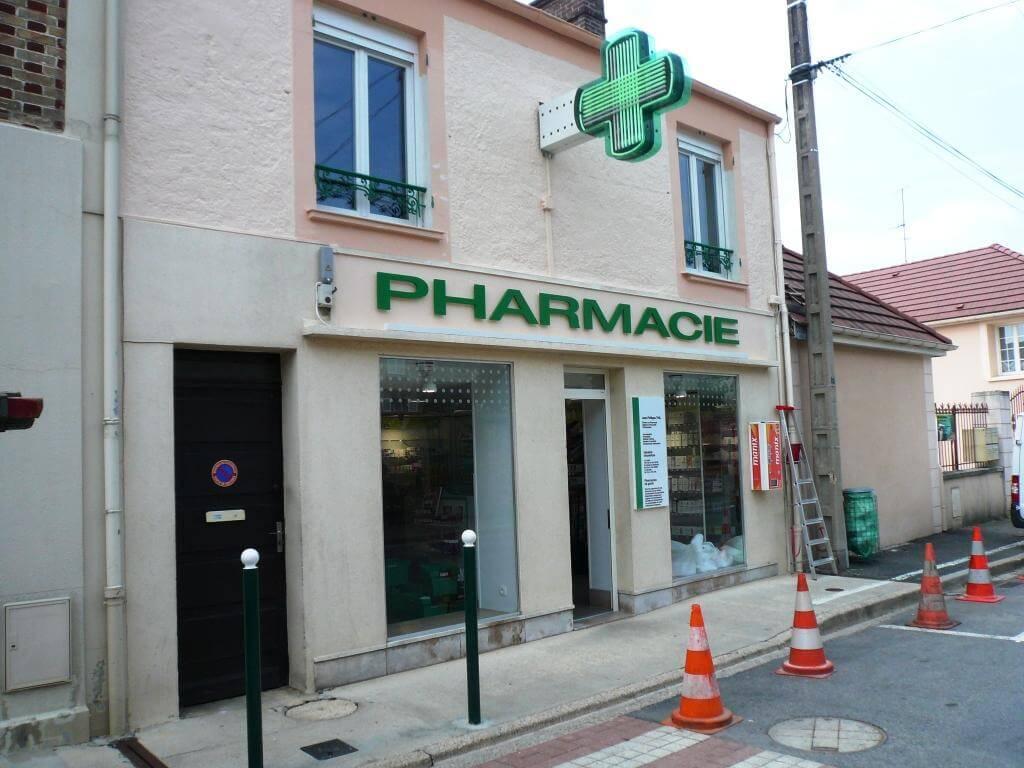 Enseigne pharmacie Thil Mortcerf (77)*