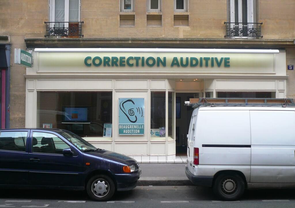 Enseigne magasin Paris Beaugrenelle Audition