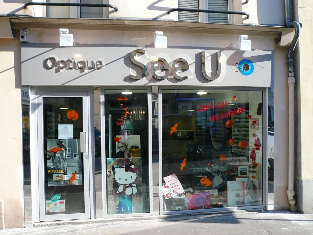 Enseigne magasin optique See U Vincennes