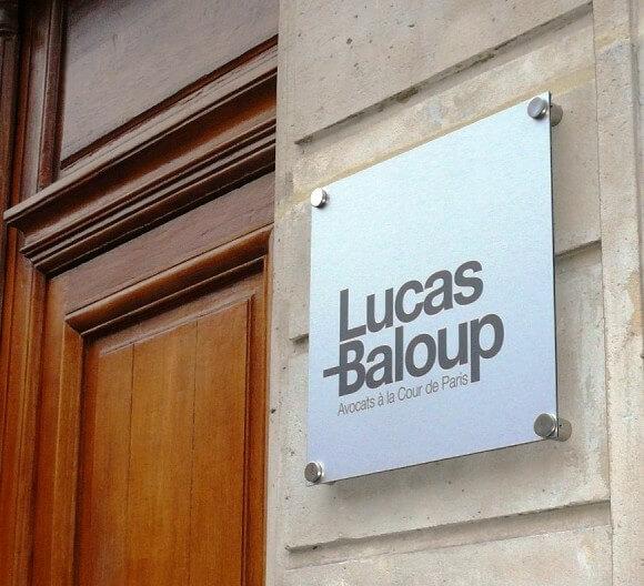 Nouvelle signalétique Maître Lucas-Baloup Paris