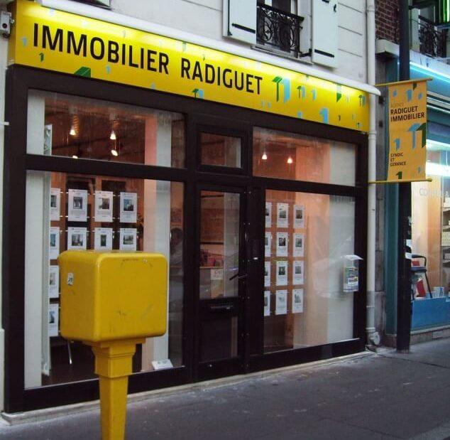 Enseigne lumineuse agence immobilière Asnières