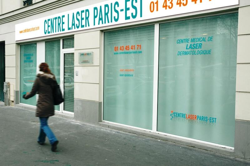 Enseigne et signalétique Centre Laser Paris