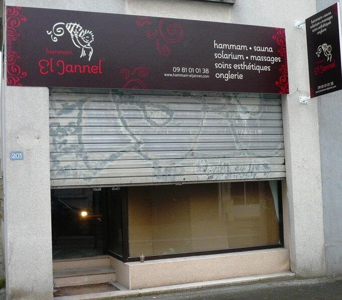 Enseigne Hammam «El Jannel»  Montreuil