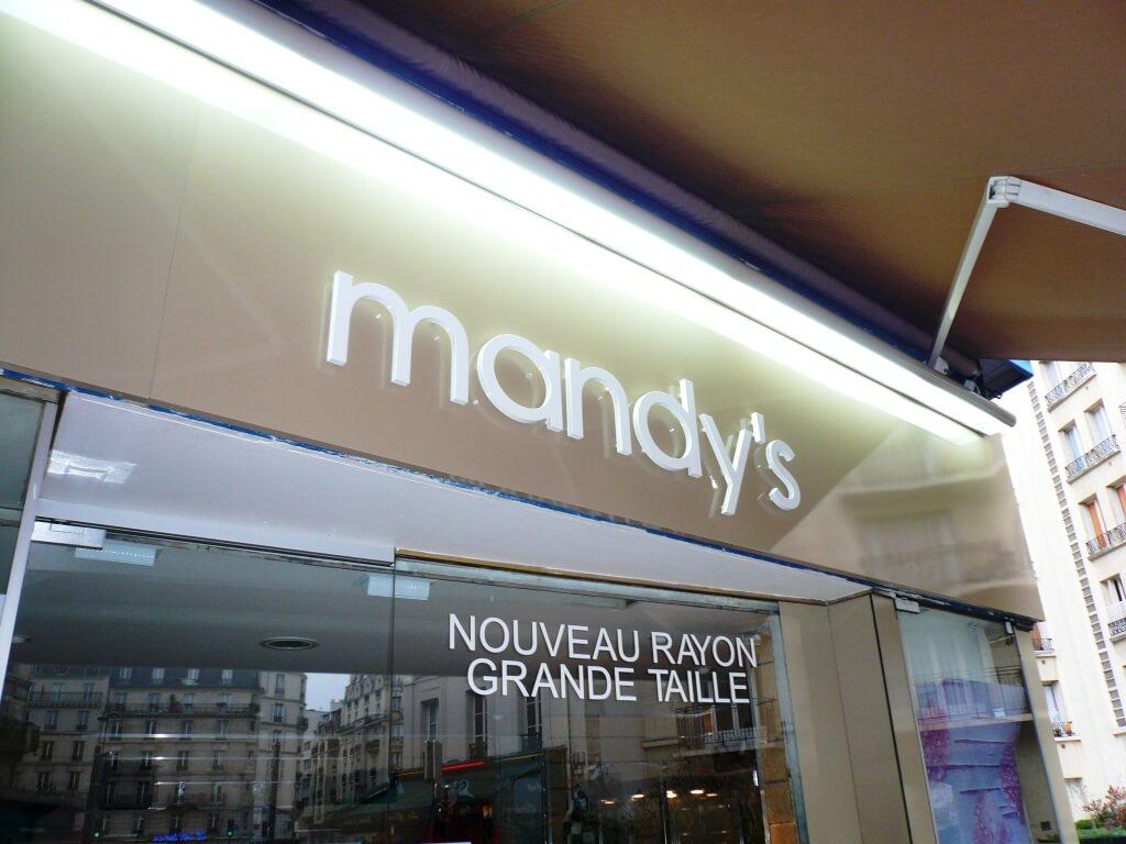 Enseigne lumineuse Pret à porter Mandy's