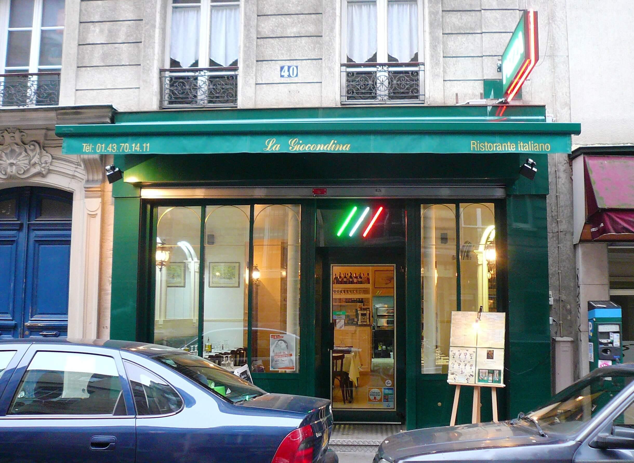 "Enseigne lumineuse Paris Pizza ""La Giocondina"""