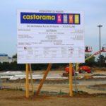 Castorama Villabé (91) - Panneau de chantier de 3/4 quart