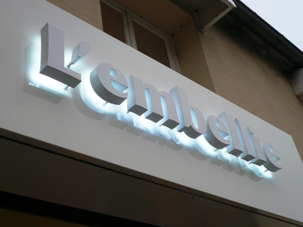 Enseigne lumineuse institut de beaut l 39 embellie - Lettres lumineuses led ...