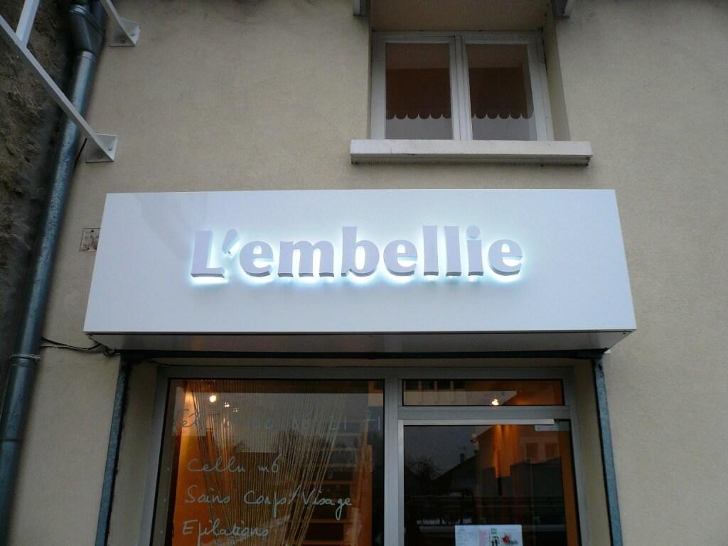 Enseigne Lumineuse Institut De Beaut U00e9 L U0026 39 Embellie