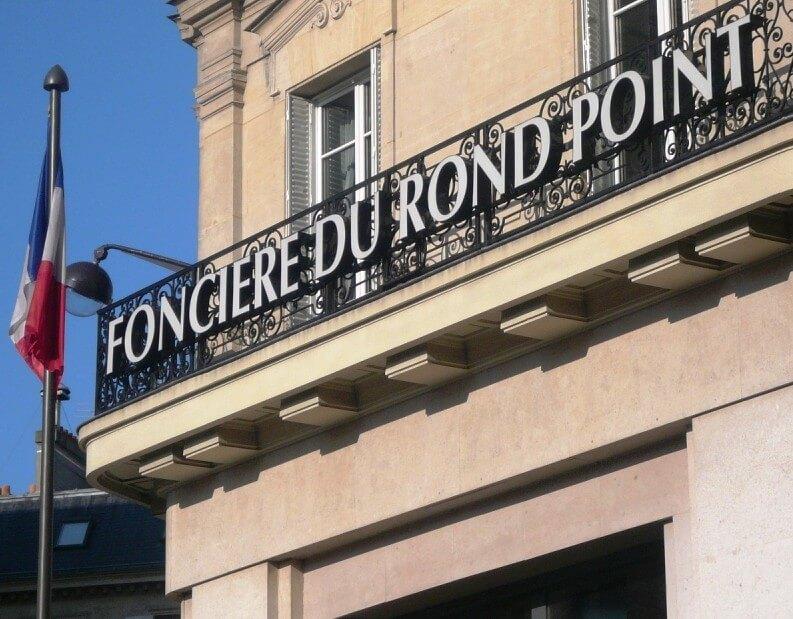 Enseigne Foncière du Rond Point 75008 Paris