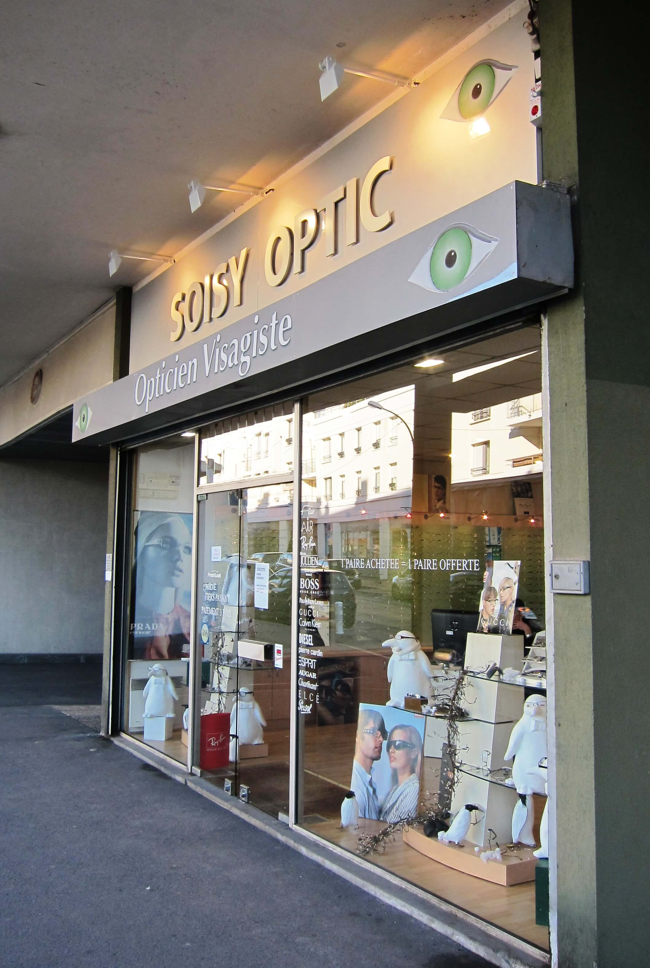 enseigne lumineuse opticien soisy optic. Black Bedroom Furniture Sets. Home Design Ideas