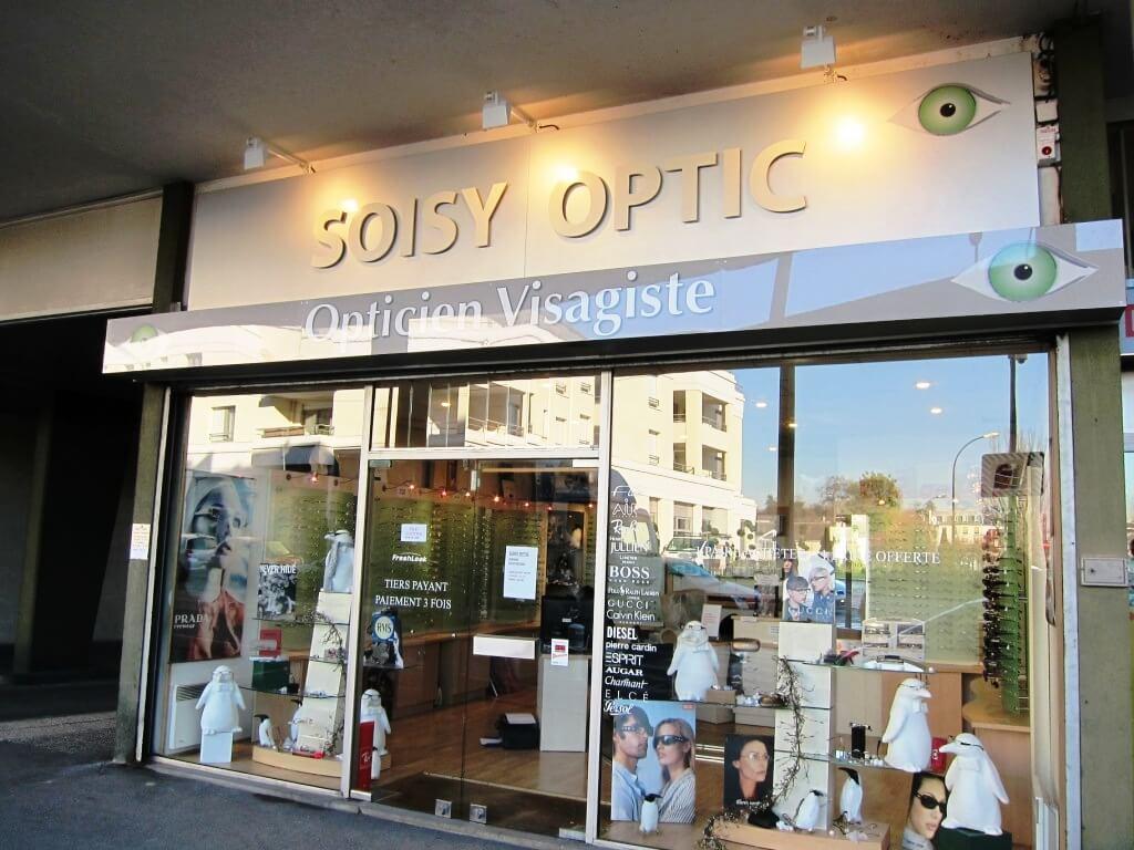 Enseigne lumineuse opticien Soisy Optic