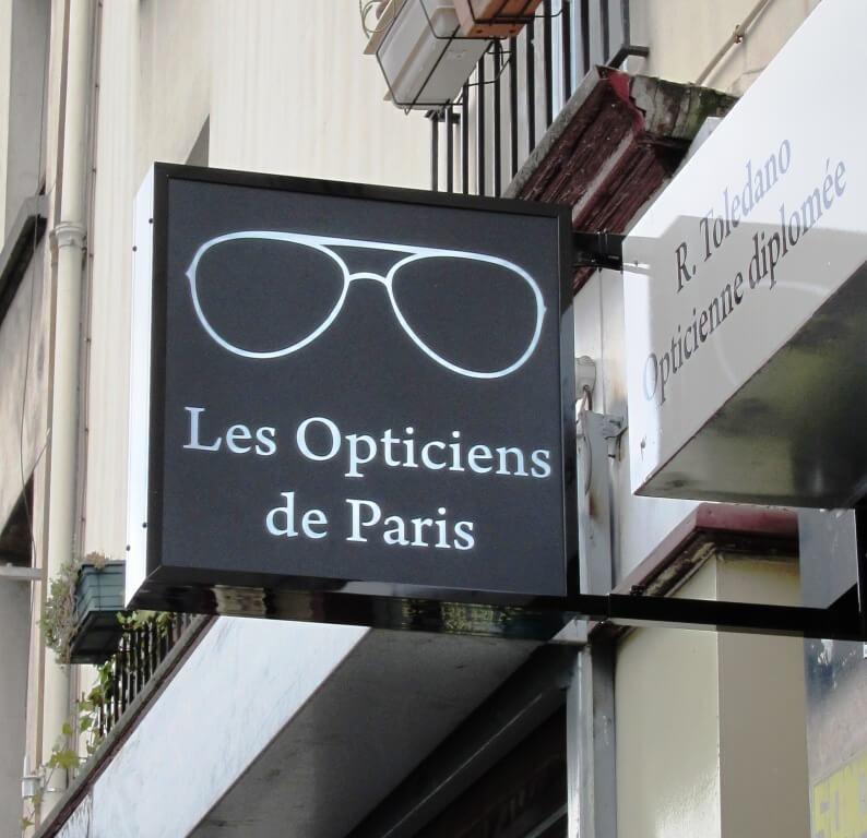 Enseigne lumineuse Paris «Les opticiens de Paris»