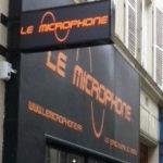 Caisson lumineux du commerce Le Microphone à Paris 9