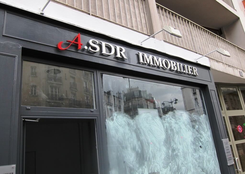 Enseigne inox immobilier agence immobiliere paris 15 asdr for Agence appartement paris
