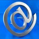 Fabrication enseigne lettre relief inox brossé - Lettre relief inox