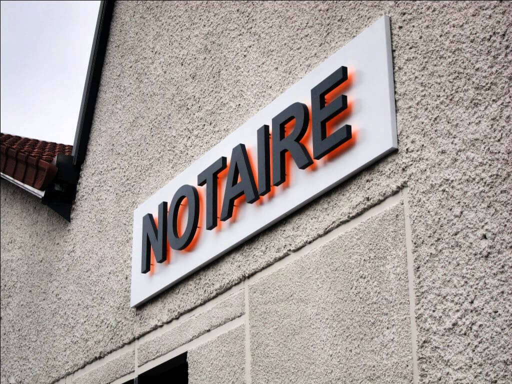 Enseigne lumineuse Notaire Lizy sur Ourcq