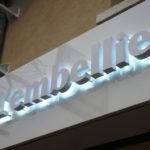 Fabrication enseigne lumineuse institut de beauté à Evry (91090). Lettres boitier retro éclairées par led blanche