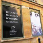Galerie Carré d'Artistes - Impression numérique - texte blanc sur fond noir