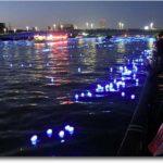 La rivière Sumida au 100000 led à Tokyo (Japon)