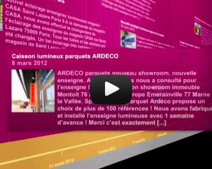 Video des réalisations d'enseignes lumineuses  2012