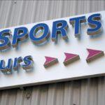 Détail fixation enseigne lumineuse - Palais des Sports de Paris Porte-de-Versailles