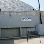 Vue de loin (20m) de l'enseigne installée - Palais des Sports de Paris Porte-de-Versailles