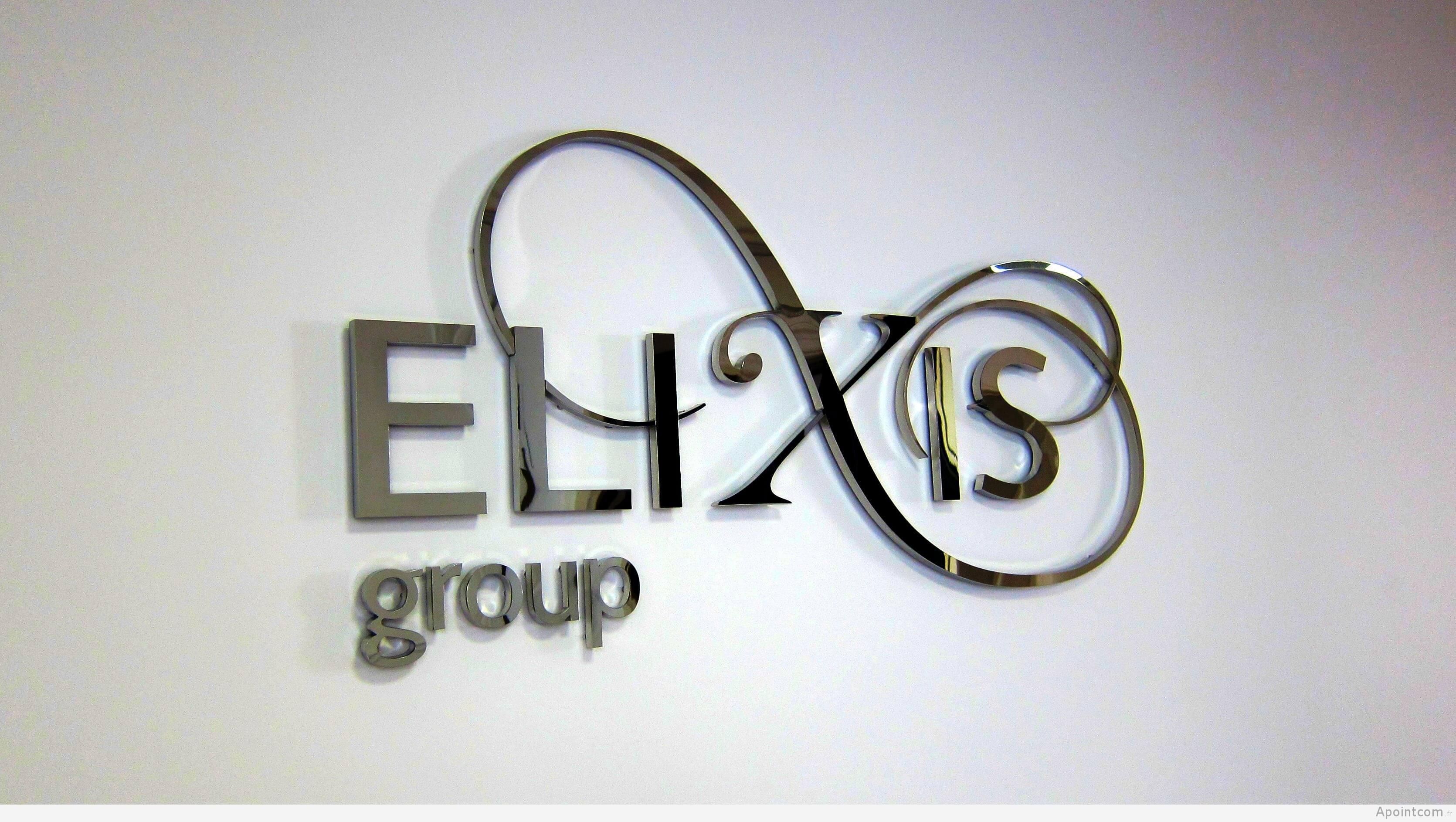 Logo inox poli miroir  pour ELIXIS group