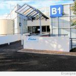 Enseigne basse - Nouvelle signalétique de l'entreprise Nordson France 77