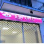Enseigne opticien lettres relief PVC 10 mm et impression numérique - Egly Optic