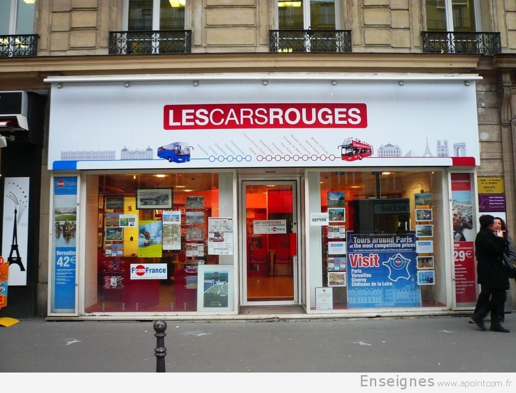 """Enseigne numérique """"Les Cars Rouges"""" à Paris"""