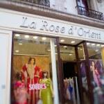 Enseigne de facade composé de lettres inox - Prêt à porter oriental - La Rose d'Orient