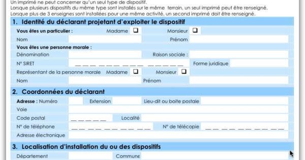 Nouveau formulaire 2013 cerfa pour enseigne lumineuse - Panneau affichage declaration prealable ...