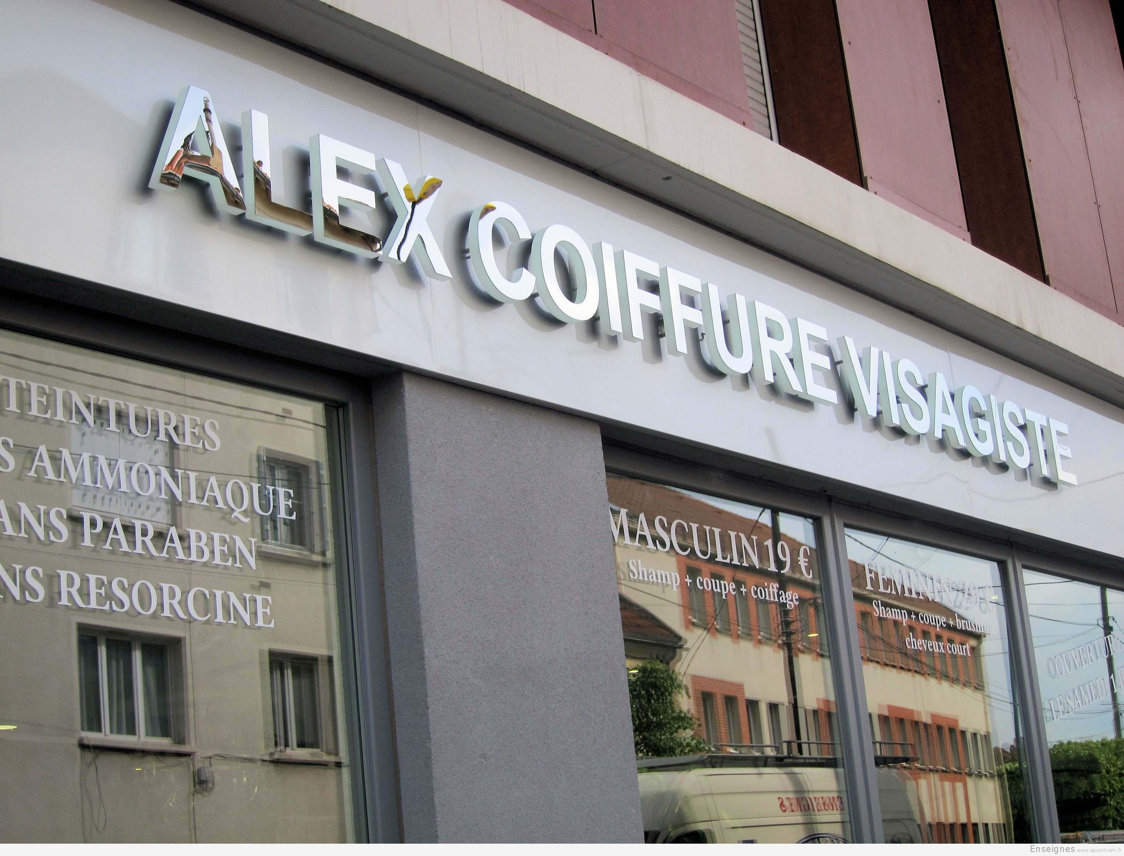 Enseigne coiffeur à  Chelles (77) – Alex visagiste
