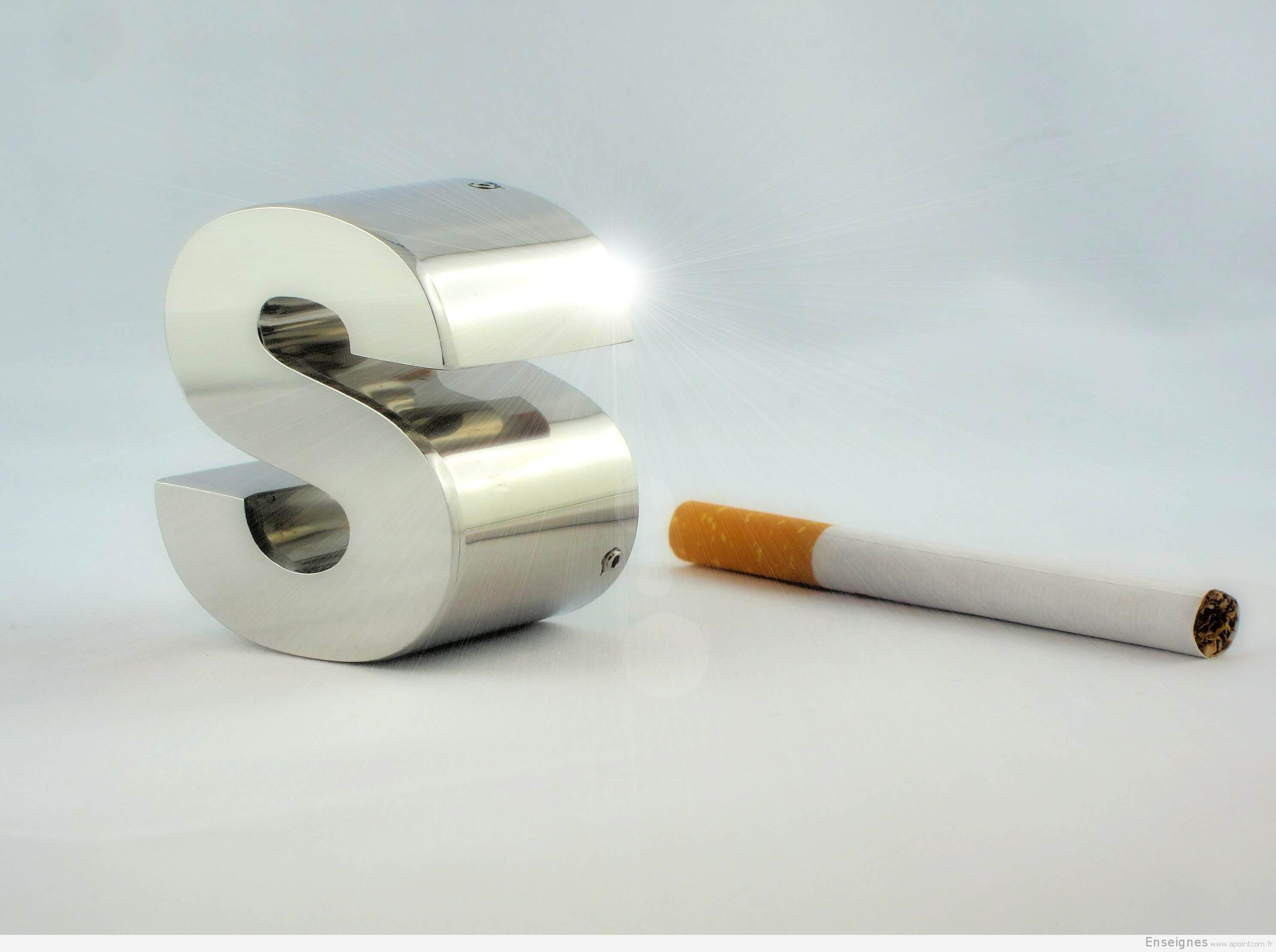 Fabrication lettre relief inox paris france for Miroir 50 mm