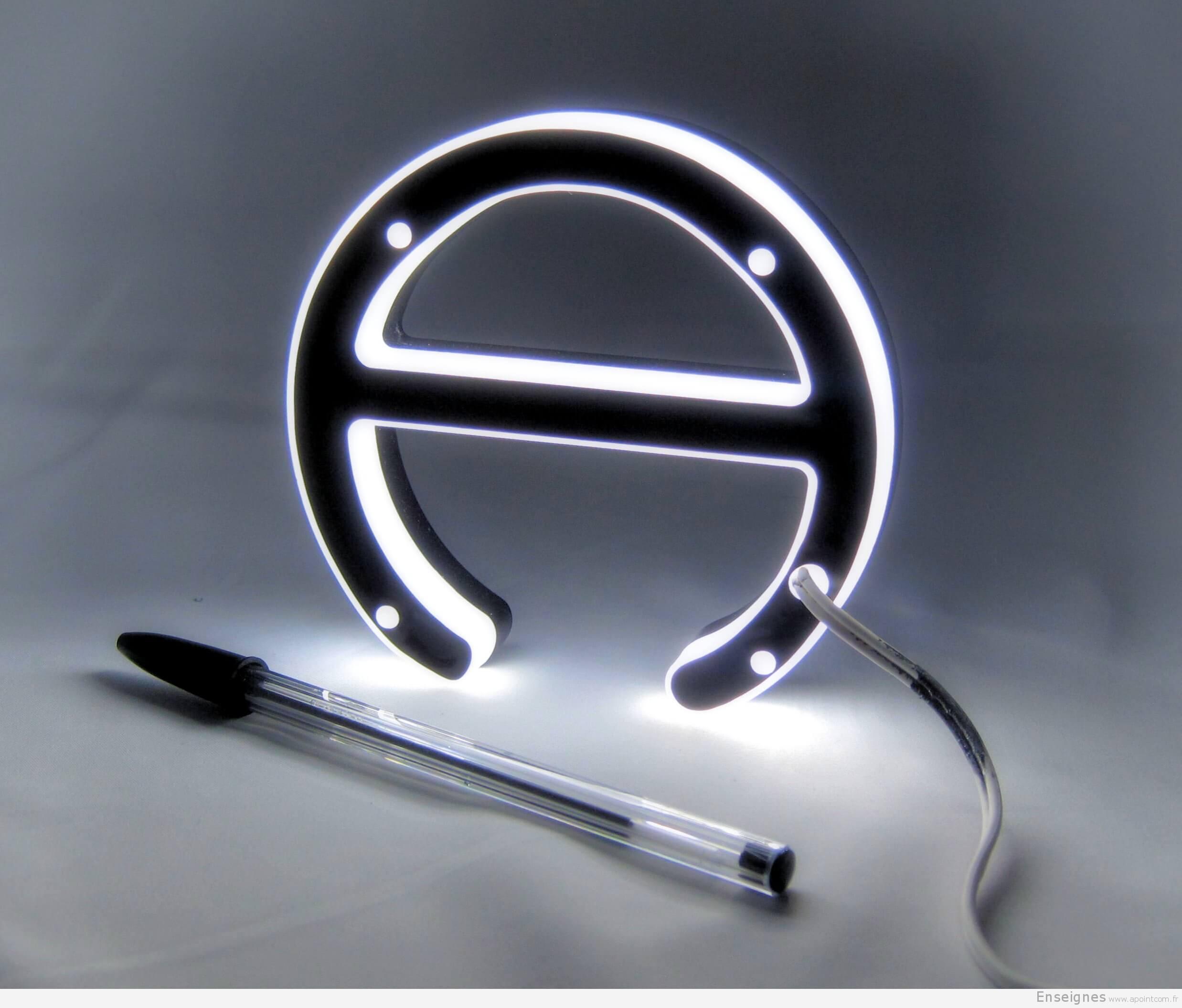 Fabuleux Fabrication lettre relief lumineuse en Plexiglas Paris YB91