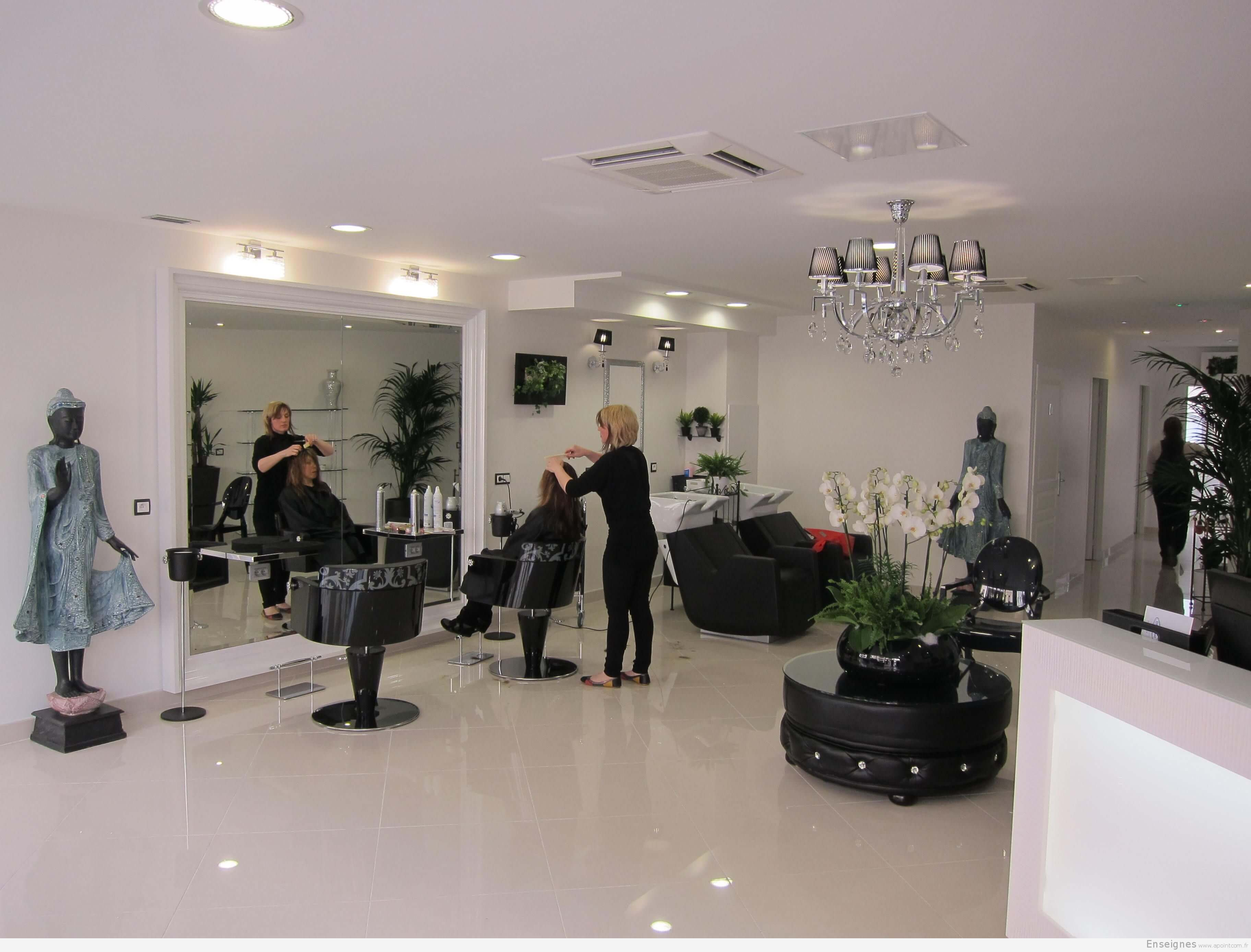 Enseigne pour coiffeur chelles 77 alex visagiste et - Agencement salon de coiffure mobilier ...