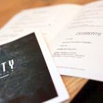 Carte ouverte sur les desserts au restaurant ARTY de PAris Opéra