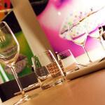 Les verres à vin sont personnalisés au restaurant ARTY de Paris Opéra