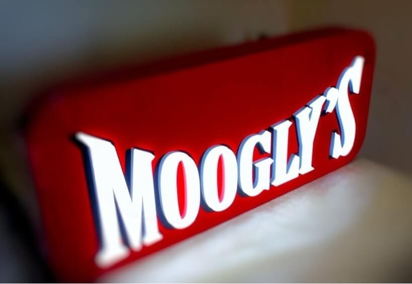 Enseigne restaurant pour Moogly's à Clichy (92)