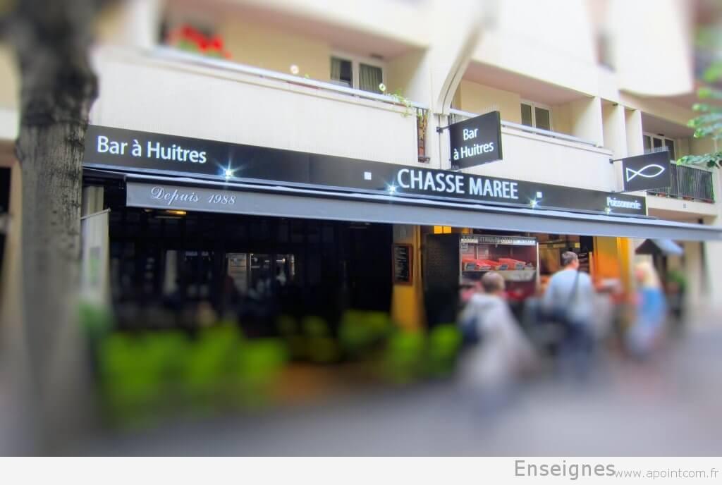 Enseigne lumineuse Restaurant Chasse-Marée
