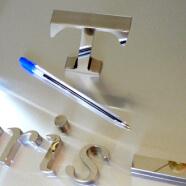 Inox poli miroir et lettres et logos 3D